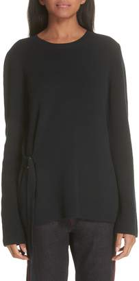 Stella McCartney Side Buckle Rib Knit Sweater