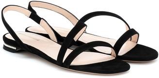 Nicholas Kirkwood Casati pearl suede sandals
