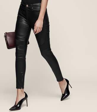Reiss Haden - Skinny Leather Trousers in Black
