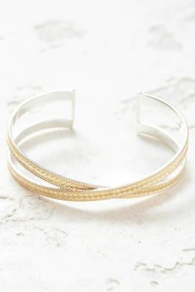 Anna Beck Gold Crisscross Cuff Bracelet