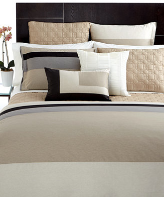 Hotel Collection CLOSEOUT! Bedding, Panel Stripe Full/Queen Duvet Cover