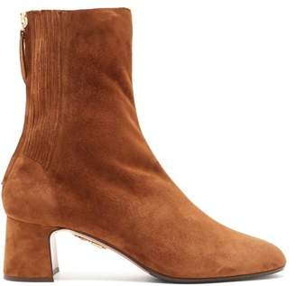 Aquazzura Saint Honore Suede Ankle Boots - Womens - Tan