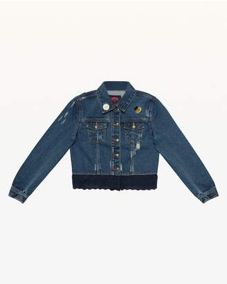 Juicy Couture Eyelet Trim Denim Jacket for Girls