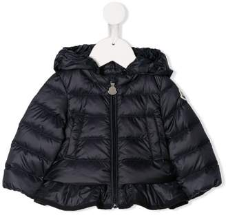 Moncler ruffle hem quilted jacket