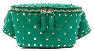 Valentino Rockstud Spike Leather Belt Bag - Womens - Green