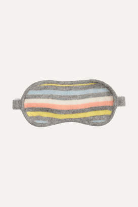 Chinti and Parker Striped Cashmere And Wool-blend Eye Mask - Gray