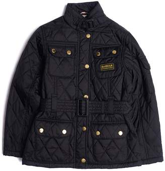 Barbour Girls International Flyweight Quilted Belted Jacket