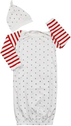EGELEXY Newborn Toddler Infant Baby Anchors Print Bodysuit Sleeping Bag Sleeper Gown size 6-12 Months
