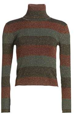 A.L.C. Mariel Stripe Turtleneck Sweater