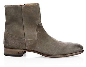 John Varvatos Men's Eldridge Suede Zip Ankle Boots