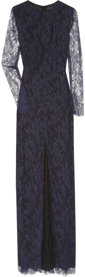 The Row Cameron Chantilly lace gown