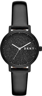 DKNY Women's Modernist Black Patent Leather Strap Watch 32mm