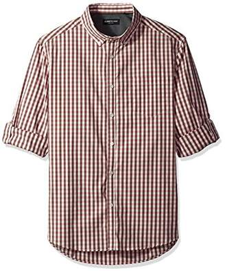 Kenneth Cole New York Men's Long Sleeve Iridescent Check Shirt