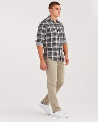 7 For All Mankind Luxe Sport Slimmy Clean Pocket in Light Khaki