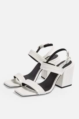 Topshop ROXIE Vegan White Block Heels