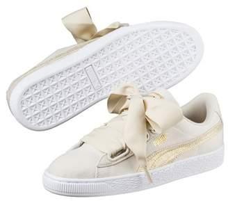 Puma Basket Heart Leather Flatform Sneaker
