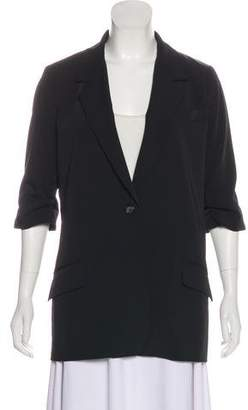 Elizabeth and James Single-Breasted Short-Sleeve Blazer