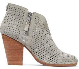 Rag & Bone Laser-Cut Suede Ankle Boots
