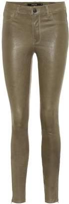 J Brand L8001 mid-rise skinny leather pants