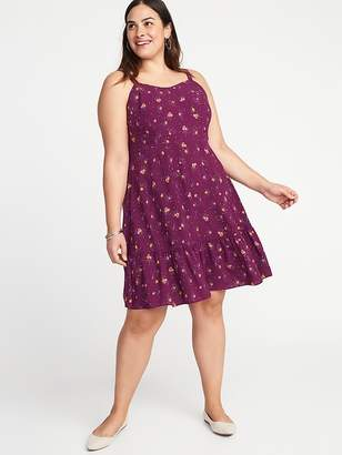 Old Navy Floral Fit & Flare Plus-Size Tiered Cami Dress
