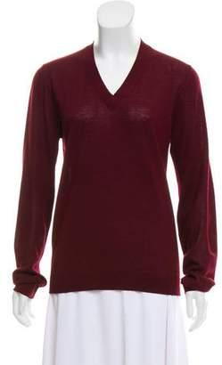 Maison Margiela Long Sleeve V-Neck Sweater