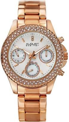 August Steiner Women's Rose Gold Alloy Watch