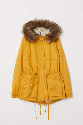 H&M Pile-lined Parka - Yellow