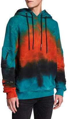 Mauna Kea Men's Love Lala Tie-Dye Hoodie Sweatshirt w/ Zip-Pocket Sleeves
