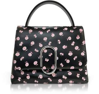 3.1 Phillip Lim Alix Black Printed Leather Mini Top Handle Satchel Bag