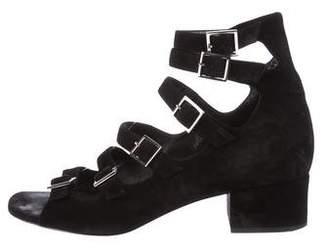 Saint Laurent Suede Cage Sandals