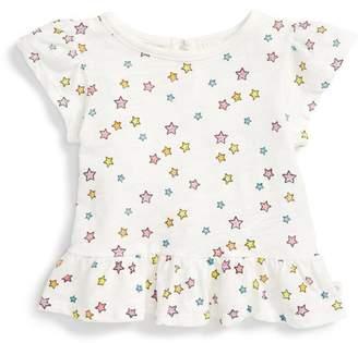 Rosie Pope Star Print Peplum Tee (Baby Girls)