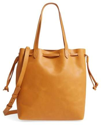 Madewell Drawcord Transport Leather Tote