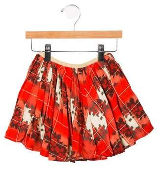 Morley Girls' Pleated Printed Skirt w/ Tags
