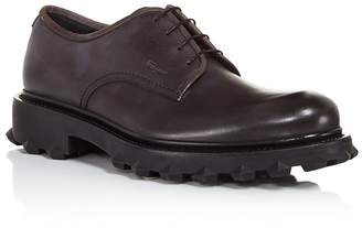 Salvatore Ferragamo Calfskin Leather Derbys with Injected Rubber Spikes