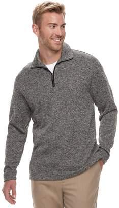 Haggar Men's Classic-Fit Sweater Fleece Quarter-Zip Pullover