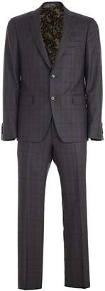 Etro Checked Pattern Suit