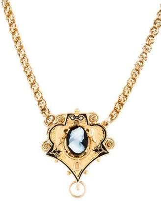 10K Antique Cameo Pendant Necklace