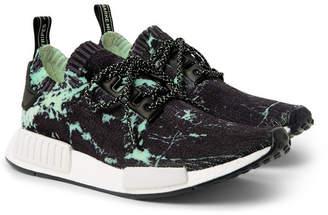 adidas NMD_R1 Marble-Print Primeknit Sneakers - Black