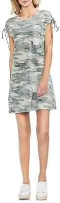 Vince Camuto Lace-Up Shoulder Camo Dress