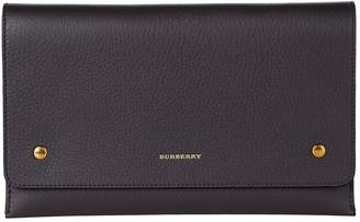 Burberry Leather Two-Tone Wristlet Clutch