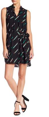 Collective Concepts Printed Waist Tie Dress