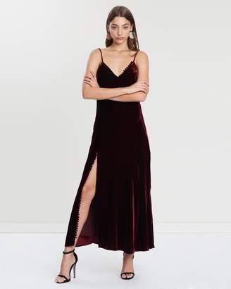 Nicholas Silk Velvet Slip Panel Dress