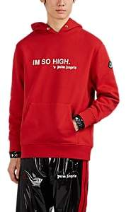 """Palm Angels 8 MONCLER Men's """"Im So High"""" Cotton Fleece Hoodie - Red"""