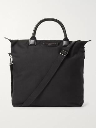 WANT Les Essentiels O'Hare Leather-Trimmed Organic Cotton-Canvas Tote Bag - Men - Black