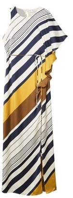MANGO Striped asymmetrical dress