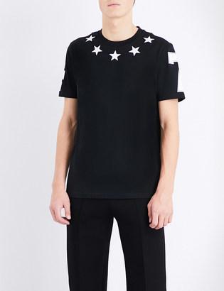 Givenchy Star appliqué cotton-jersey t-shirt $370 thestylecure.com