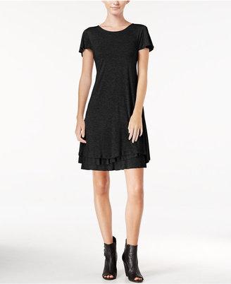 kensie Heathered Tiered-Hem Dress $69 thestylecure.com