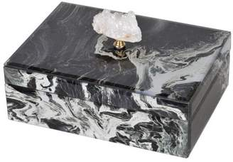A&B Home Black Marble Jewelry Box