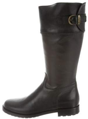Santoni Girls' Buckle-Accented Leather Boots w/ Tags
