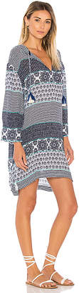 Seafolly Spliced Hooded Dress in Blue $172 thestylecure.com